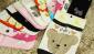 韩国出口袜子 AB袜 纯棉船袜 纯棉 全棉袜子 卡通女袜 女式短袜