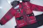 批发春秋冬库存童装中童套装,处理童装秋冬套装,夹棉红色套装