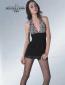 淘宝爆款 欧洲原单 性感时尚 黑色瘦腿 圆点蝴蝶 提花连裤袜 1169